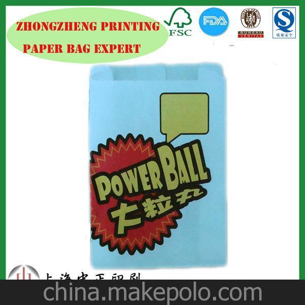 厂家直销定制 QS认证食品级纸 油炸食品纸袋 防油纸袋