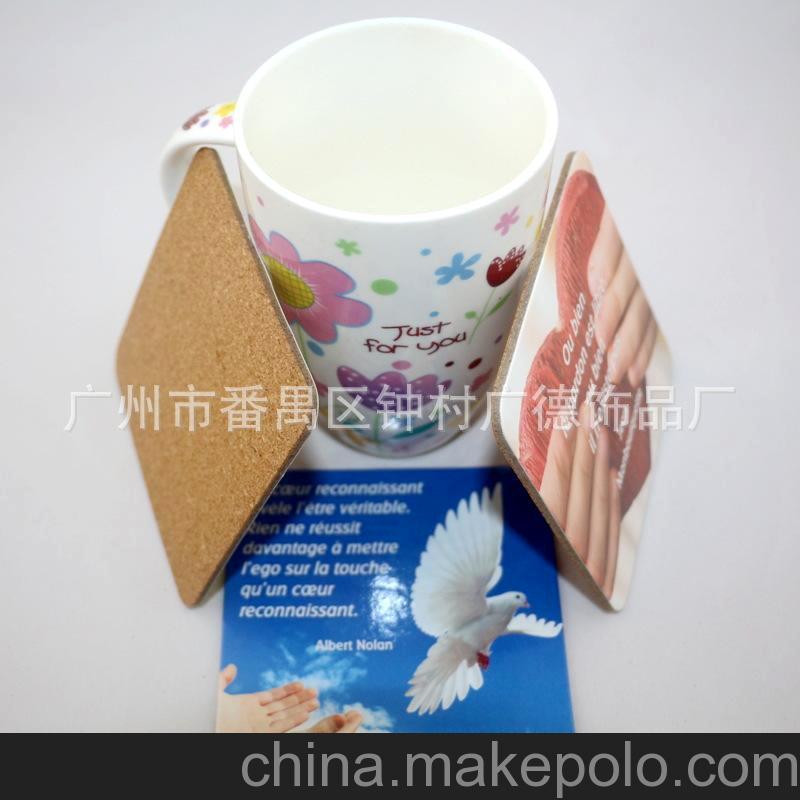 家居日用促销礼品 圆形灰板纸软木杯垫