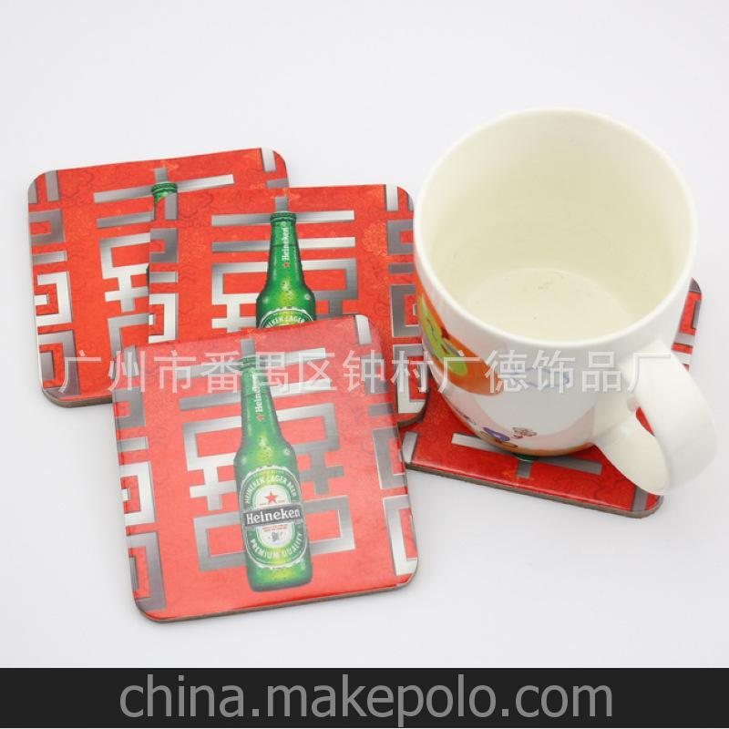 厂家直销礼品 卡通系列灰板纸软木杯垫 出口外贸杯垫礼品