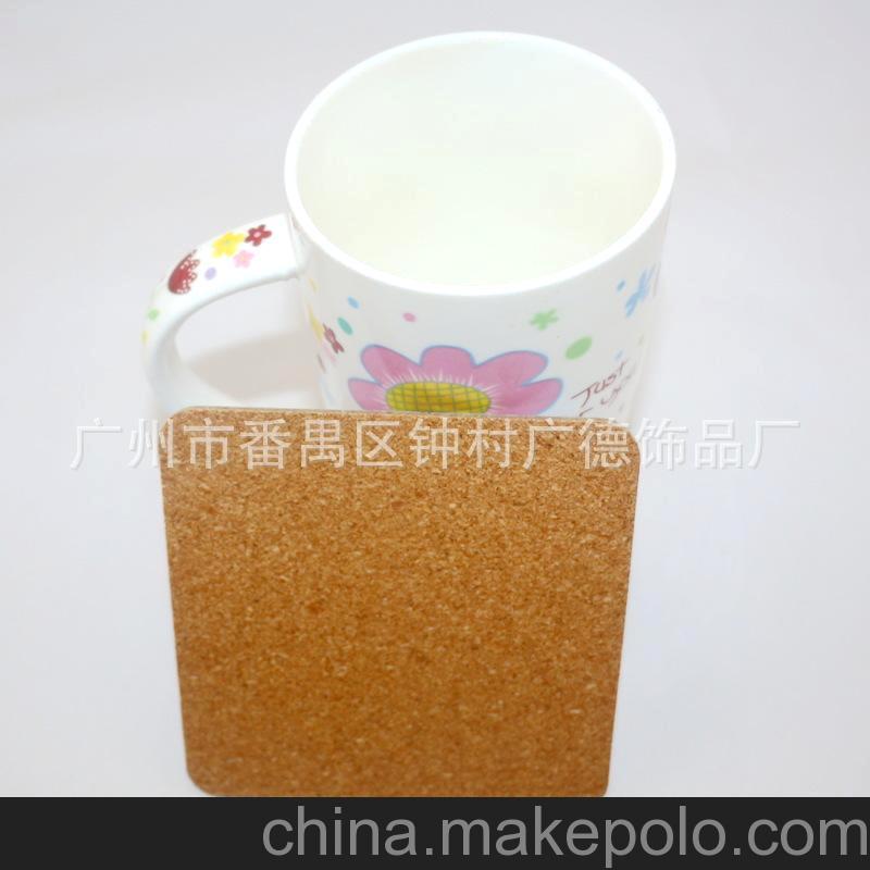 广州工厂批发 携手创爱 精美logo印刷 灰板纸软木杯垫