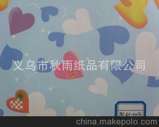 义乌秋雨纸业 桃心图案纸 鲜花纸 包装纸 手工纸 80克铜版纸