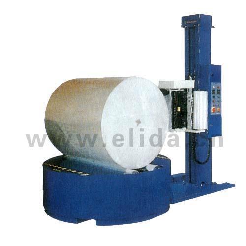 顺德圆筒纸拉伸薄膜裹包机,大良帘子布伸缩膜裹膜机
