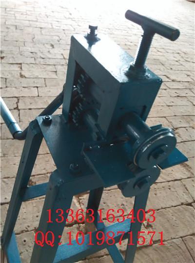 供应上下调节式双轮立式铁皮保温专用白铁板滚边机 轧边机 压痕机