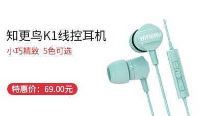 晨光HIFIKIWI知更鸟K1入耳线控耳机苹果安卓通用ADG98802【包邮】