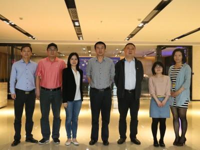 新华社中国经济信息社莅临纸引未来网交流合作