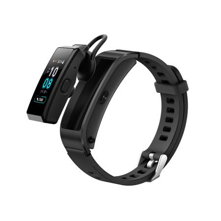 华为手环 B5 (蓝牙耳机+智能手环+心率监测+彩屏+触控+压力监测+Android+IOS通用+运动手环) 运动版 韵律黑
