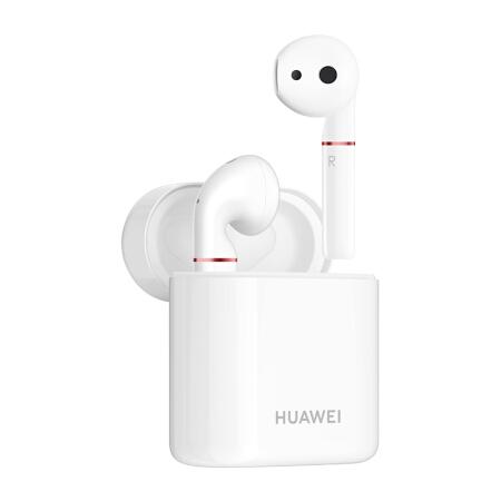 华为( HUAWEI) 华为无线耳机 真无线蓝牙耳机 双耳蓝牙音乐耳机 Freebuds 2 无线耳机 陶瓷白