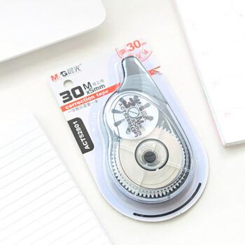 晨光(M&G) ACT52801 良品修正带涂改带 黑色外壳 白色 30米
